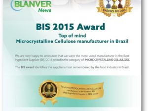 Blanver Wins 2015 Best Ingredient Supplier Award
