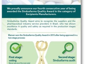 Blanver, Cellulose Gel and MCC manufacturer, Quality Award.